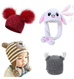 dětské zvířecí a ušaté čepice